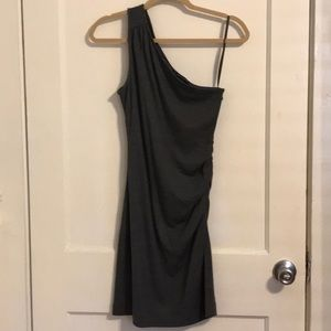 One should gray fitted dress